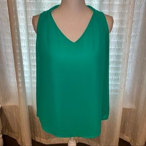 Green Flowy Tank Top